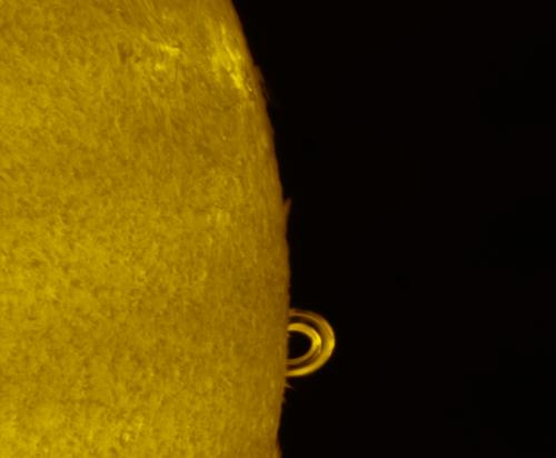 Magnified view of double arched flare SS12673 on Sept 10, 2017